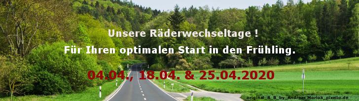 Radwechsel Frühling 2020 Homepage
