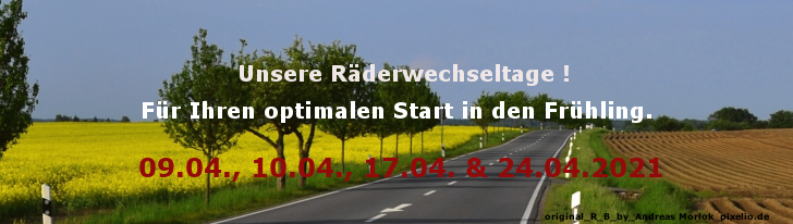Radwechsel Frühling 2021 Homepage